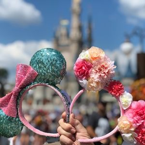 Disney Parks Minnie Mouse Ears TWO pairs!